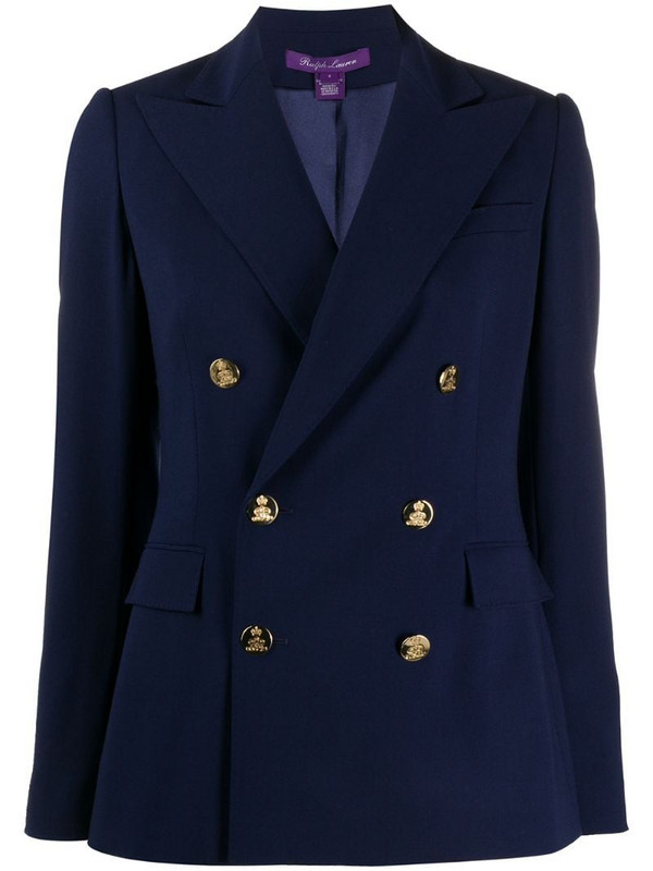 Ralph Lauren Collection tailored double-breasted blazer in blue