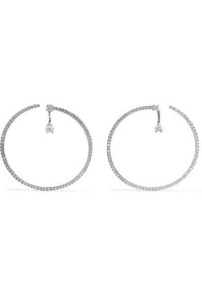 Anita Ko - Bardot 18-karat White Gold Diamond Hoop Earrings