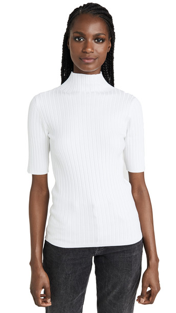 525 America Mock Neck Pullover in white