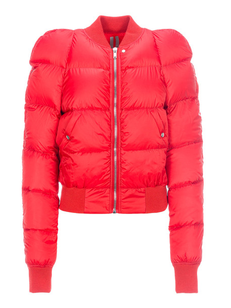 Rick Owens New Padded Bomber Jacket in red