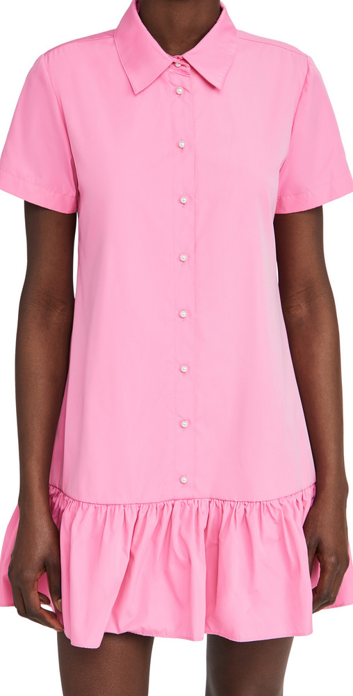 Amanda Uprichard Short Sleeve Raina Dress in pink