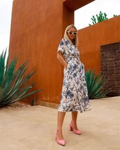 dress,midi dress,short sleeve dress,white dress,pumps,summer dress