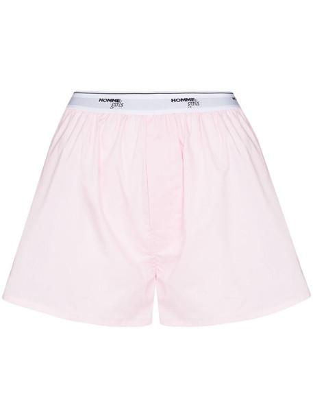 HommeGirls logo-waistband boxer shorts in pink