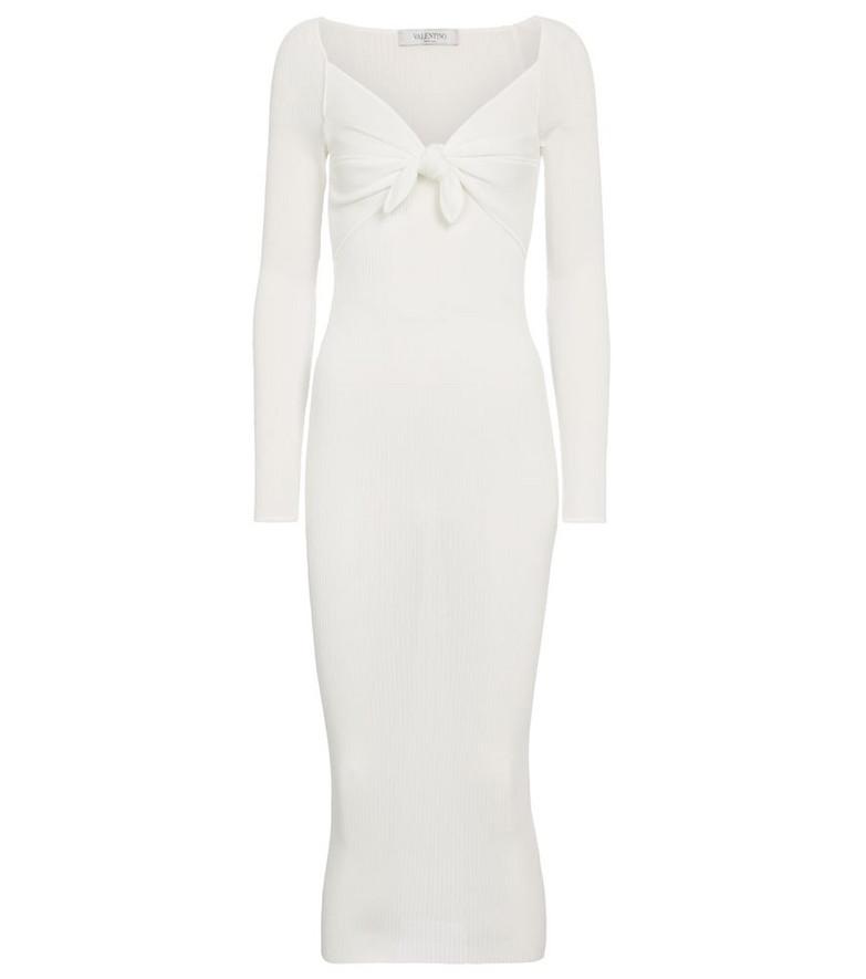 Valentino jersey midi dress in white