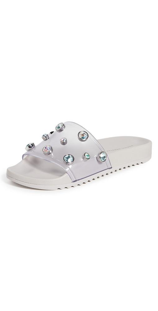 Sophia Webster Dina Slides in silver