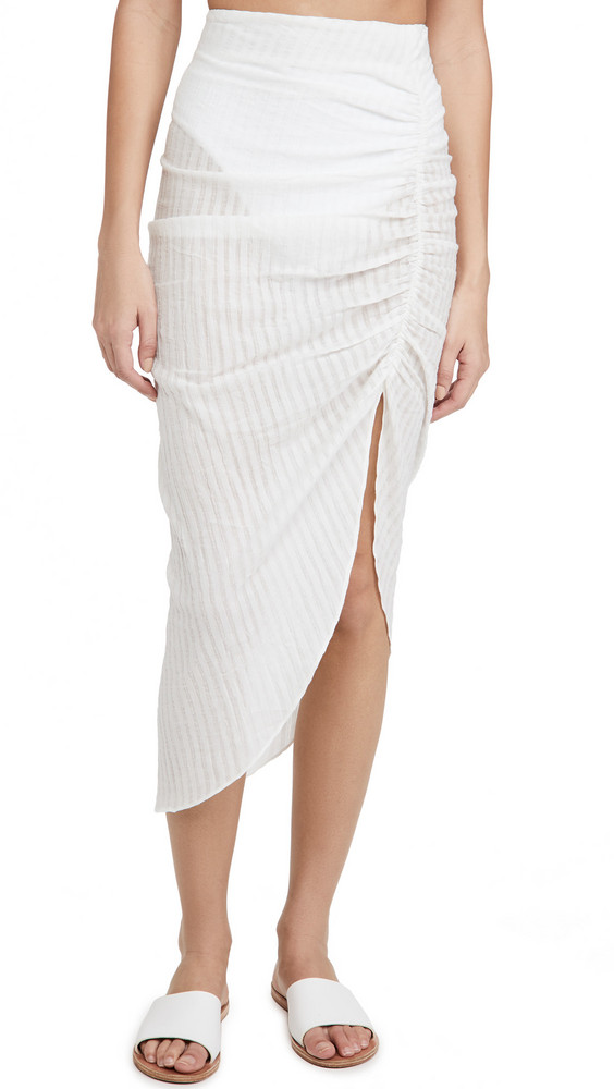 Playa Lucila Asymmetrical Skirt in white