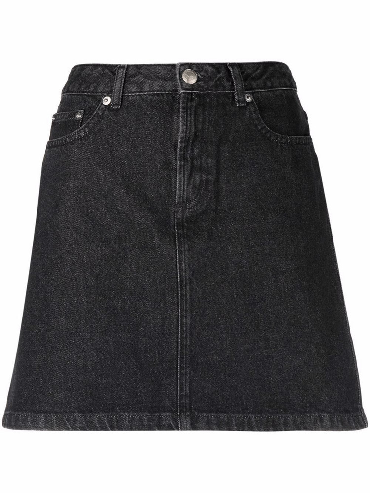 A.P.C. A.P.C. A-line denim miniskirt - Black