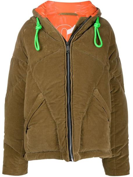 Khrisjoy corduroy padded coat in brown