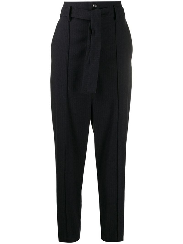 Isabel Marant high-waist tapered trousers in blue