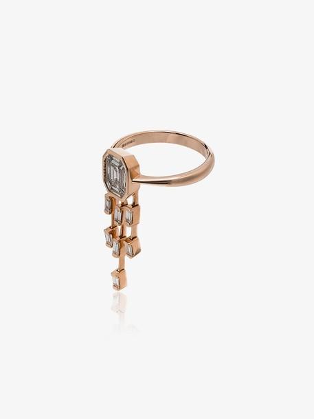 Shay 18K rose gold diamond drop ring