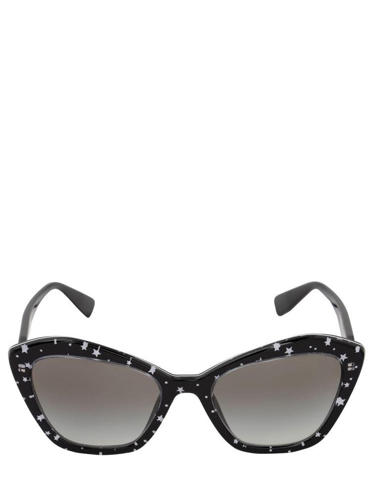 MIU MIU Galaxy Acetate Sunglasses in black / white