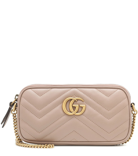Gucci GG Marmont Mini Camera shoulder bag in pink