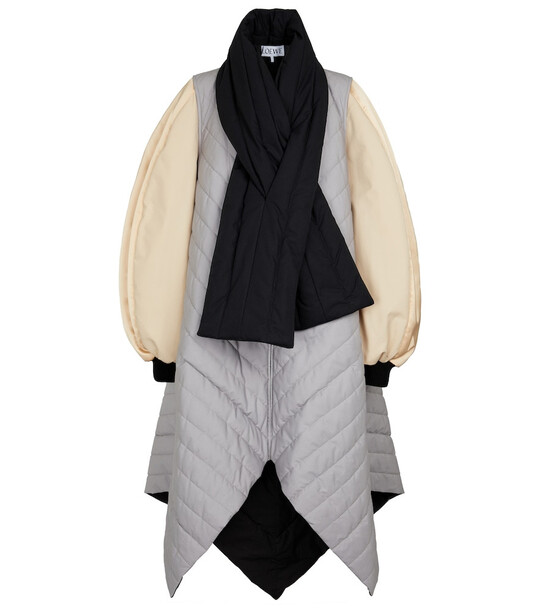 LOEWE Colorblocked quilted cotton coat