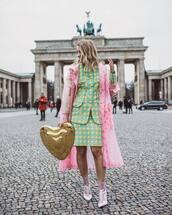 skirt,mini skirt,plaid skirt,blazer,set,ankle boots,heel boots,white,pvc,pink coat