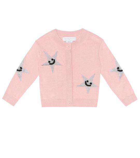Stella McCartney Kids Baby cotton and wool cardigan in pink