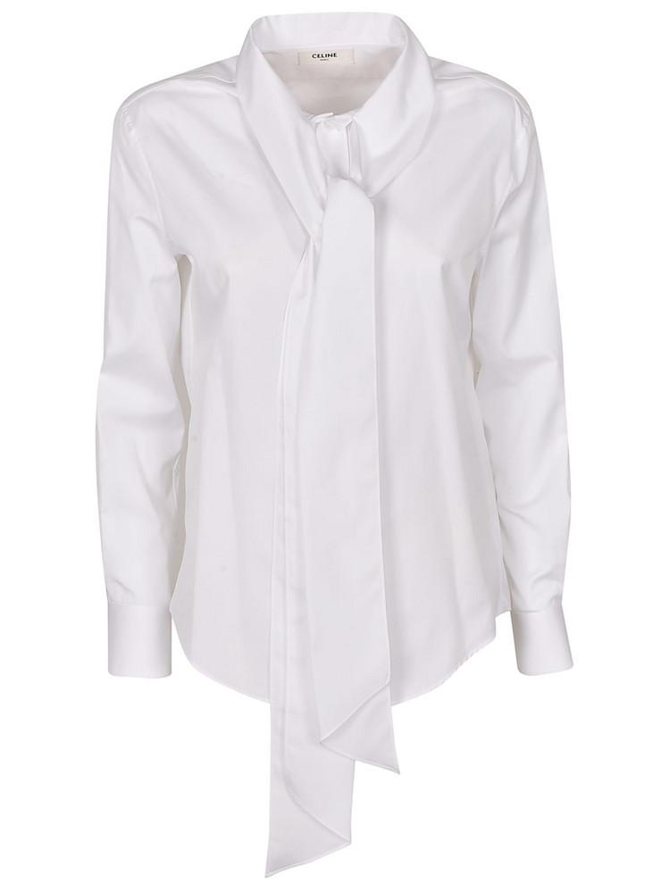 Celine Woven Shirt in white