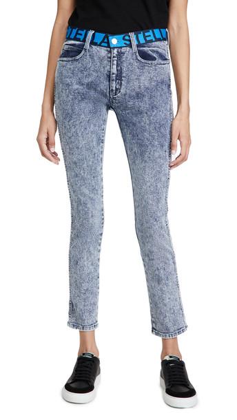 Stella McCartney Mid Rise Skinny Boyfriend Jeans in blue / denim