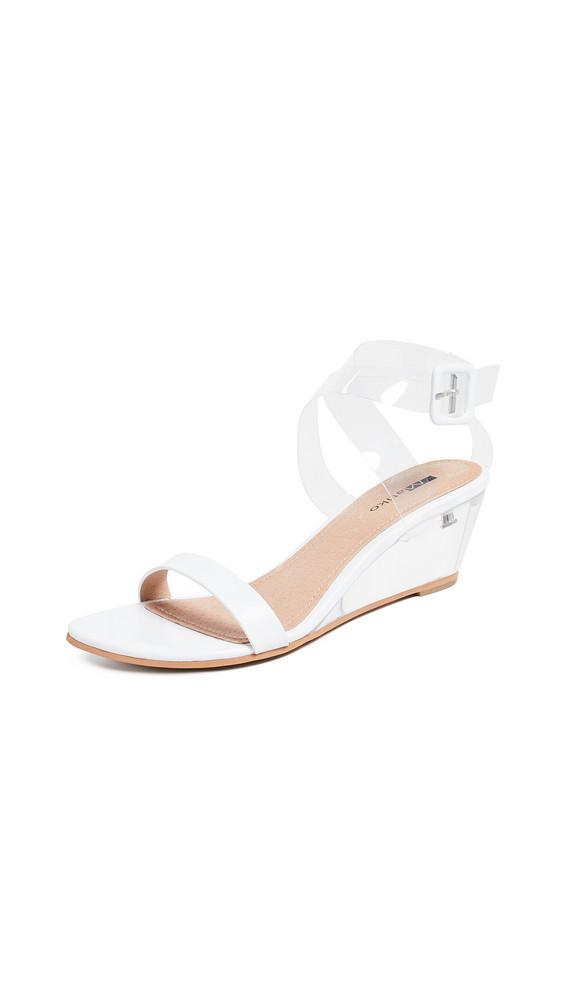 Matiko Heely Vinyl Sandals in white / clear