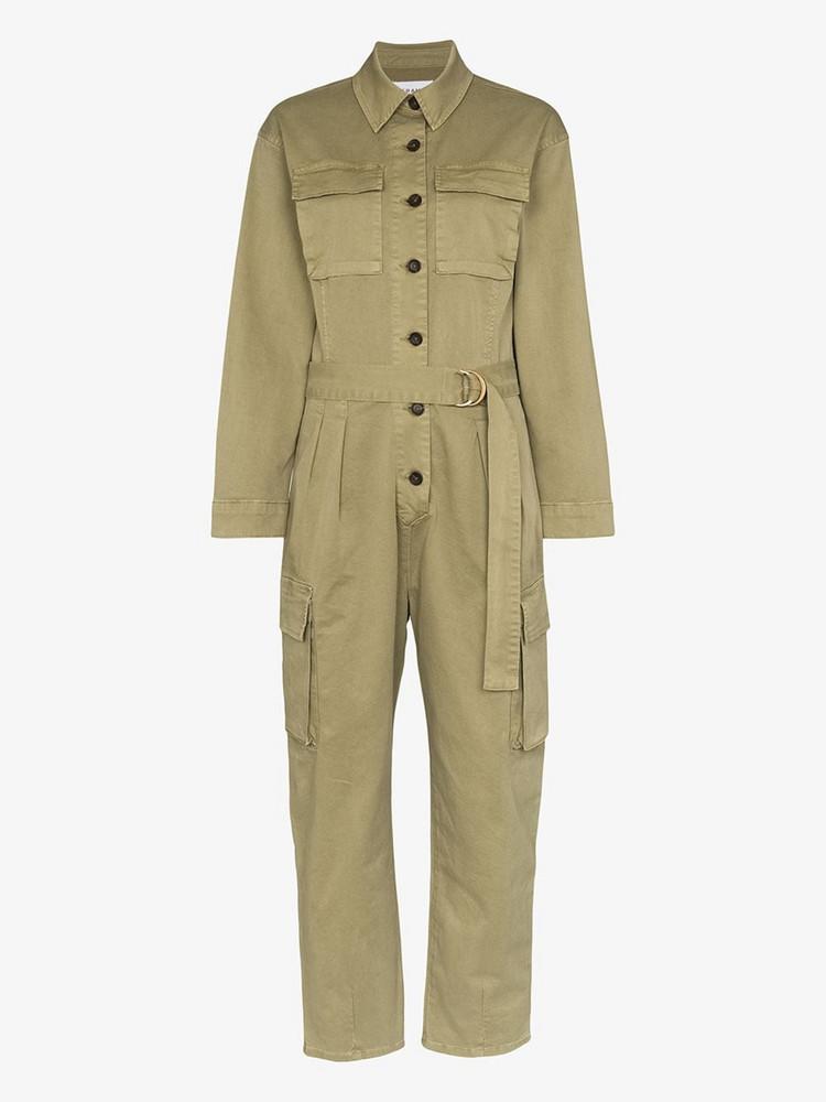 FRAME safari boiler cotton jumpsuit in green