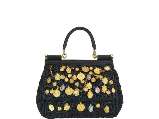 Dolce & Gabbana Small Sicily Bag in black