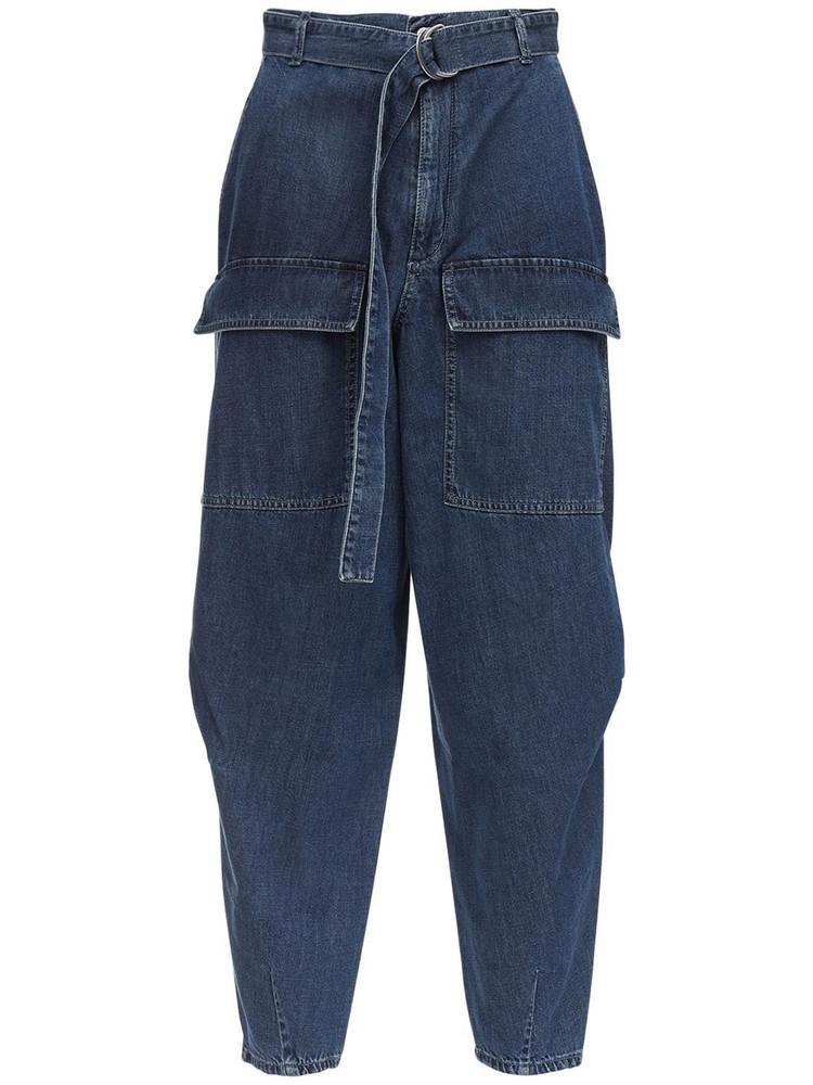 STELLA MCCARTNEY Tapered Cotton Denim Jeans in blue