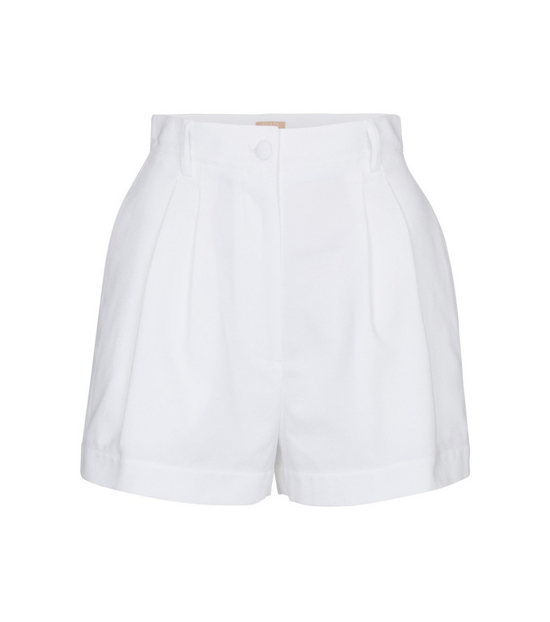 Alaïa High-rise cotton shorts in white