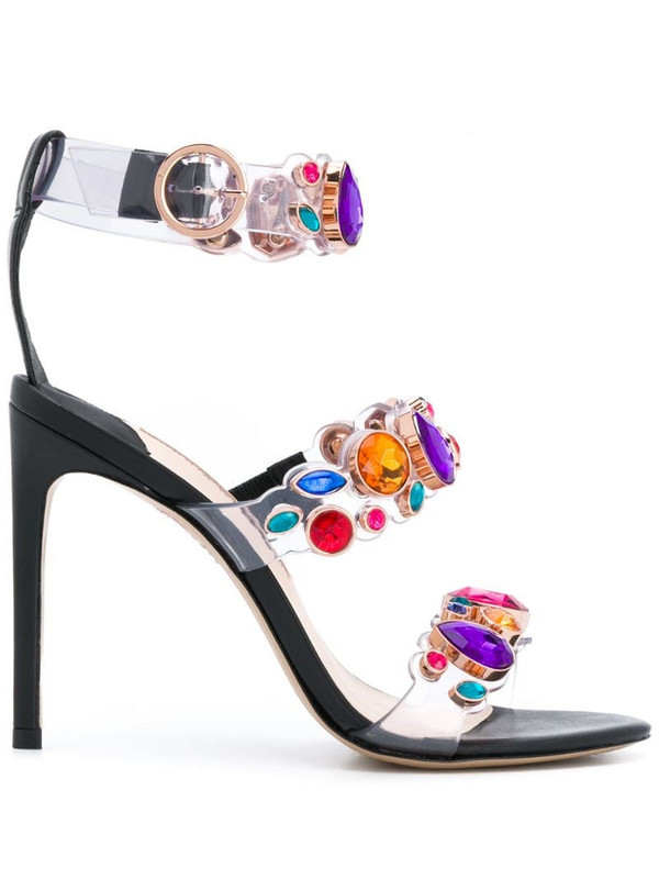 Sophia Webster Rosalind 115mm gem-embellished sandals in black