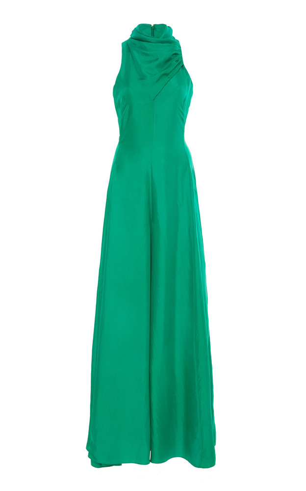 AMUR Patrice Silk Jumpsuit in green