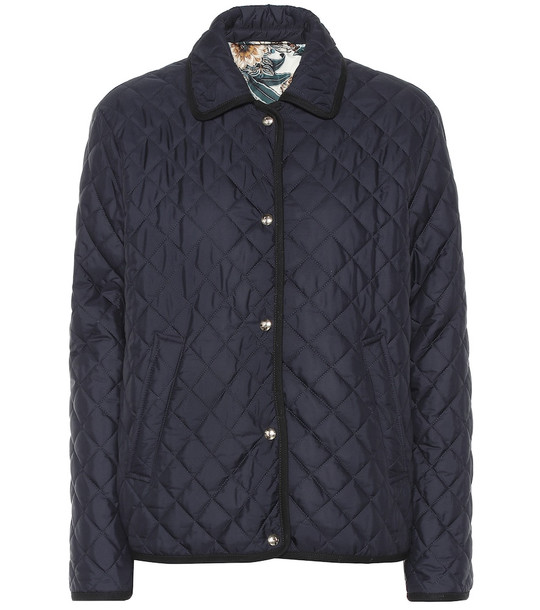 Salvatore Ferragamo Quilted jacket in blue
