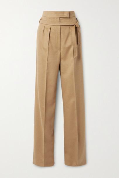 Max Mara - Break Belted Camel Hair Wide-leg Pants