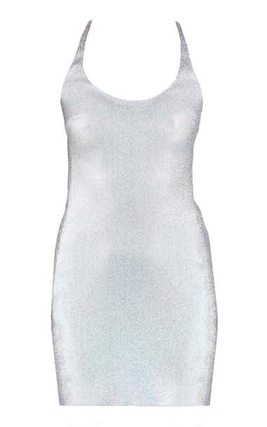 Area Metallic Racerback Cady Mini Dress