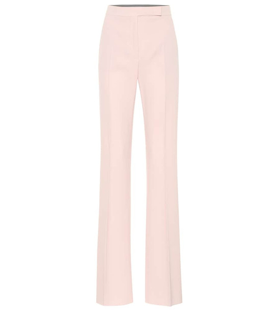 Max Mara Biavo stretch-wool flared pants in pink