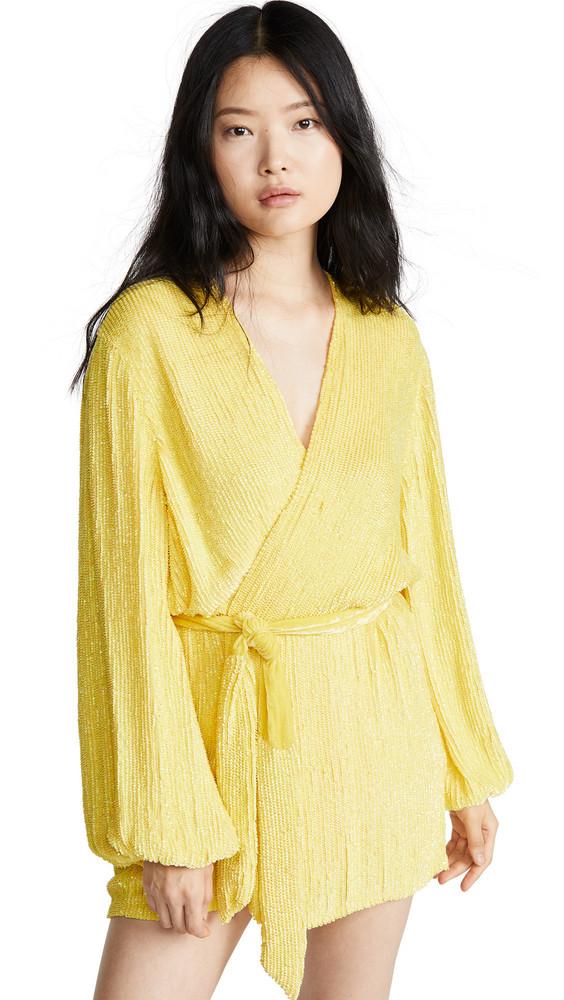 Retrofete Gabrielle Sequined Dress in metallic / yellow