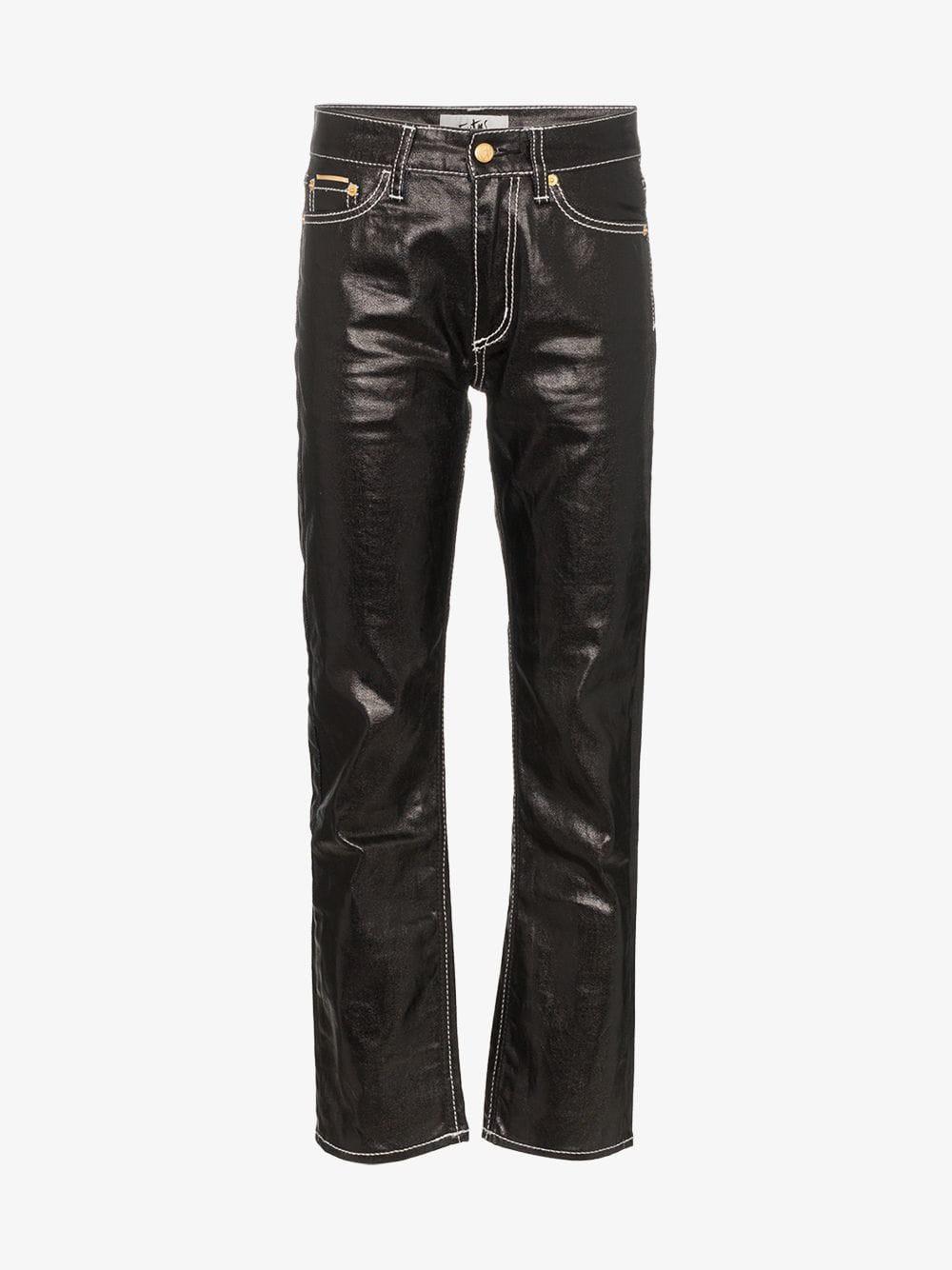 Eytys cypress straight leg jeans in black