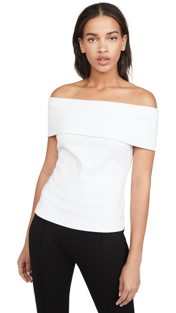 Rosetta Getty Banded Off Shoulder Top in white