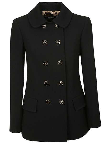Dolce & Gabbana Double Breasted Coat in nero