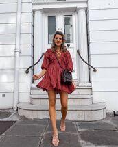 dress,mini dress,lace dress,sandal heels,crossbody bag,asos