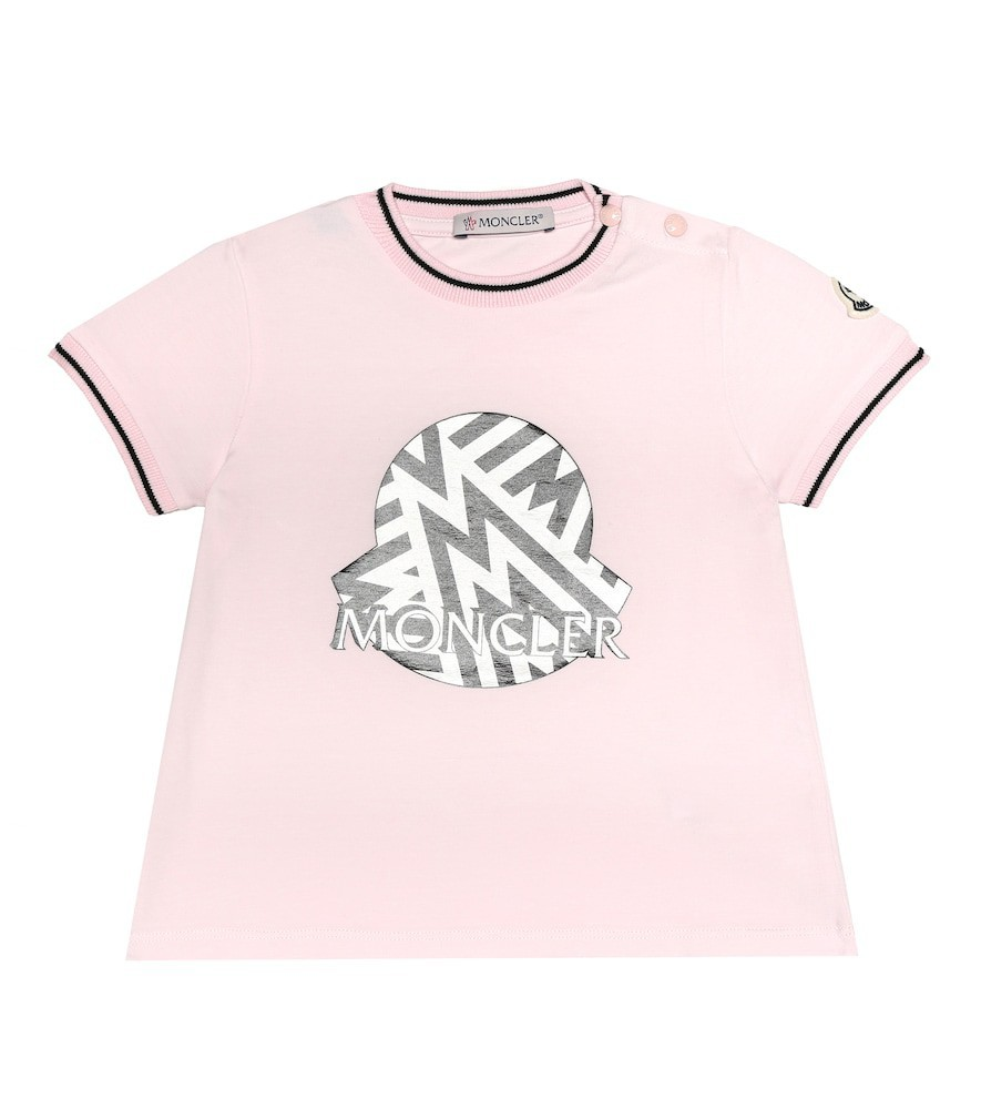 Moncler Enfant Baby stretch-jersey T-shirt in pink