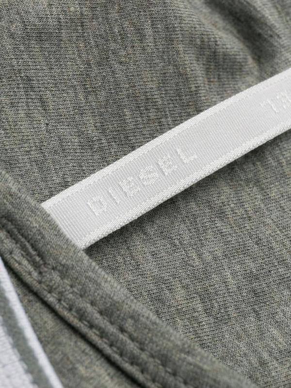 Diesel logo lettering soft bra in grey