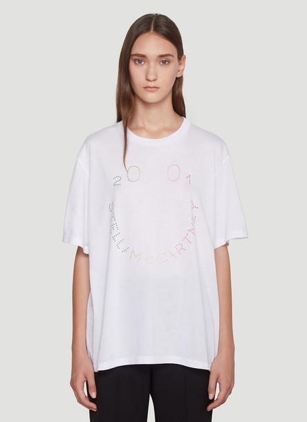 Stella Mccartney Happy Logo T-Shirt in White size IT - 44