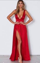 dress,gown,red prom dress,prom dress,slit dress,red dress