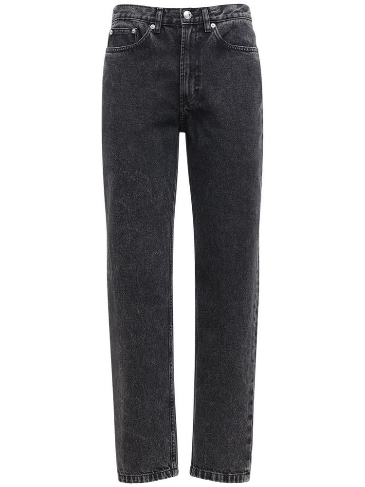 A.P.C. Martin Straight Cotton Denim Jeans in black
