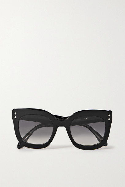 ISABEL MARANT - D-frame Acetate Sunglasses - Black