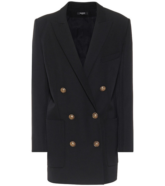 Balmain Wool minidress in black