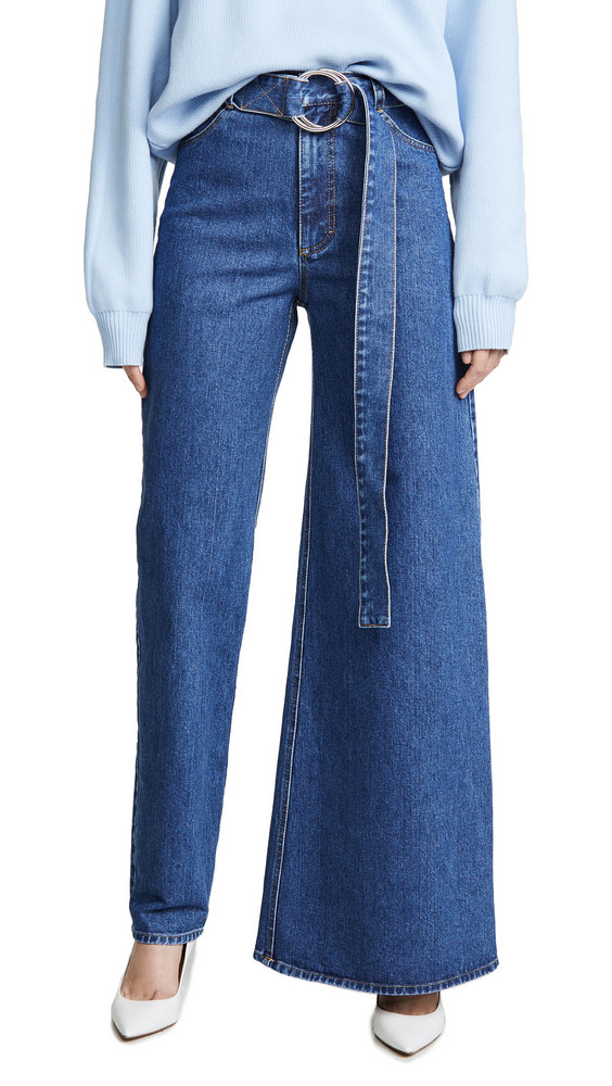 Ksenia Schnaider Asymmetrical Jeans in blue / denim