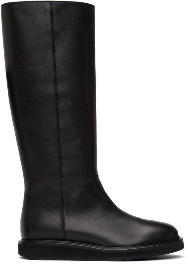 Legres Wedge Riding Boots in black