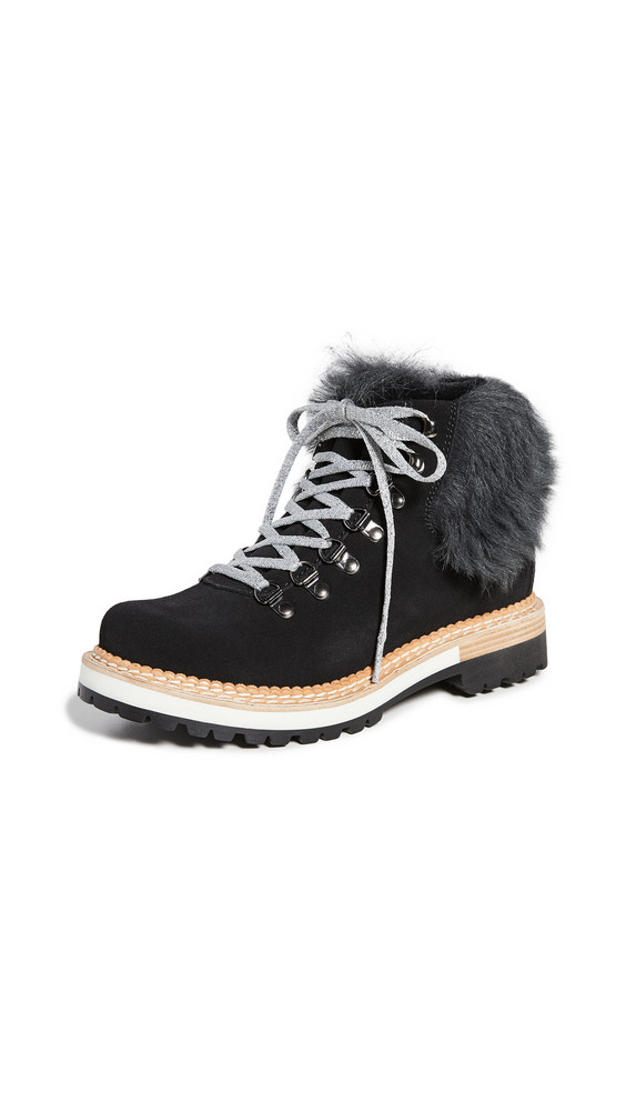Montelliana Clara Shearling Lined Boots in black