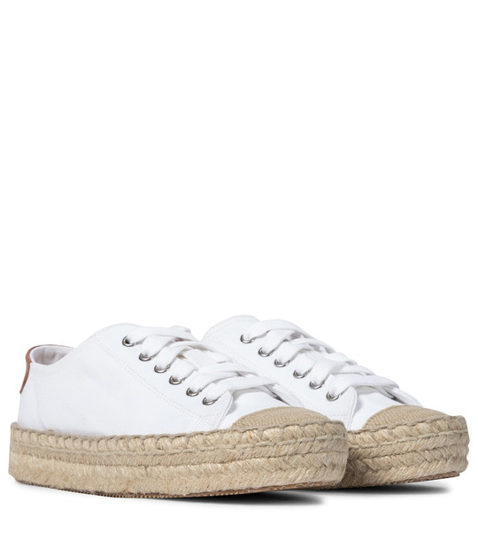 JW Anderson Lace-up cotton canvas espadrilles in white