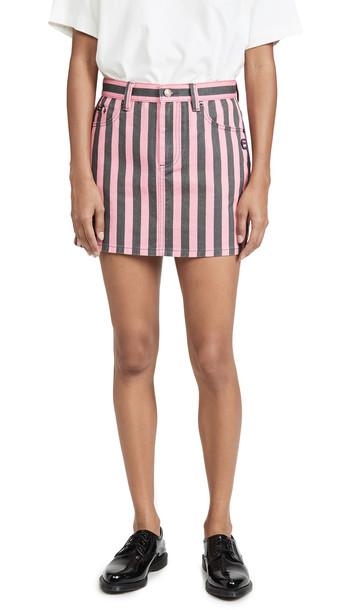 Marc Jacobs The St. Marks Miniskirt in black / pink