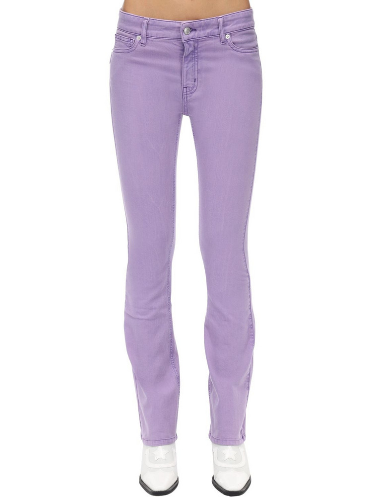 ZADIG & VOLTAIRE Flared Cotton Denim Jeans in lilac